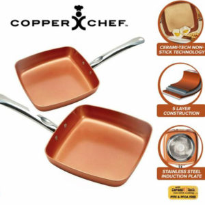 COPPER CHEF SQUARE PAN 9.5