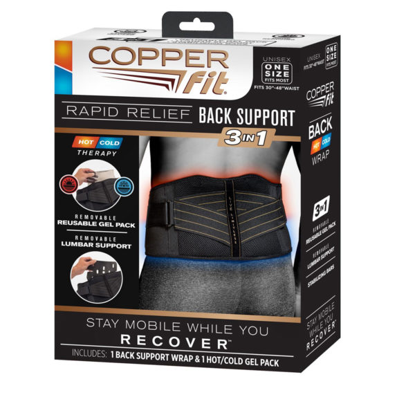 COPPERFIT RAPID RELIEF BACK SUPPORT 1 SIZE