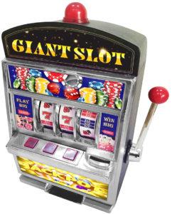 Giant slot machine coin