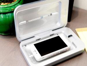 SHARPER IMAGE UV-ZONE PHONE SANITIZER