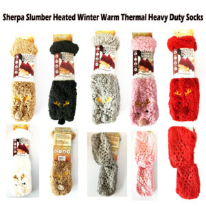 Sherpa Slumber Socks have gripper dots embedded on the soles making them slip-resistant and perfect for around the home.
