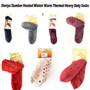42717N SHERPA SLUMBER NON-SLIP GRIPS HEATED WINTER WARM THERMAL SOCKS